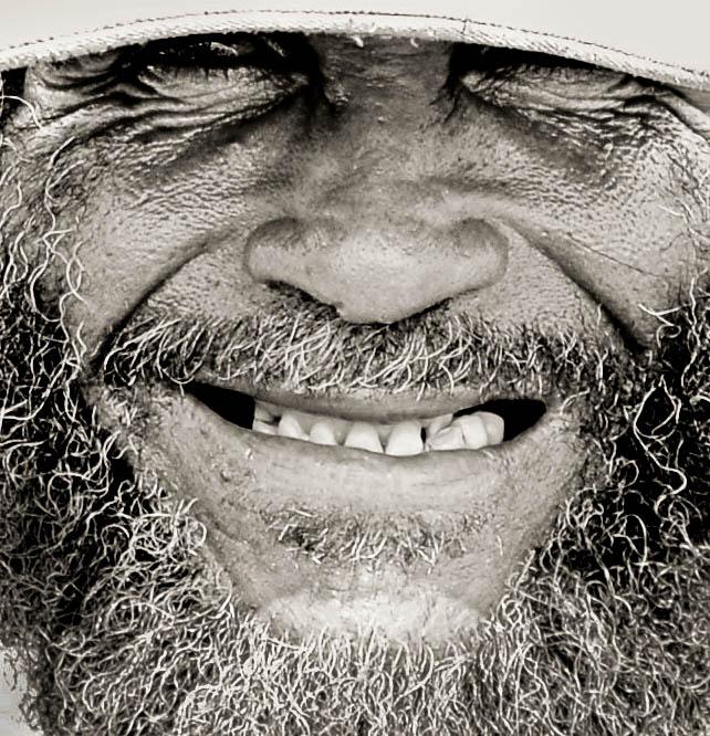 old smiling sailor